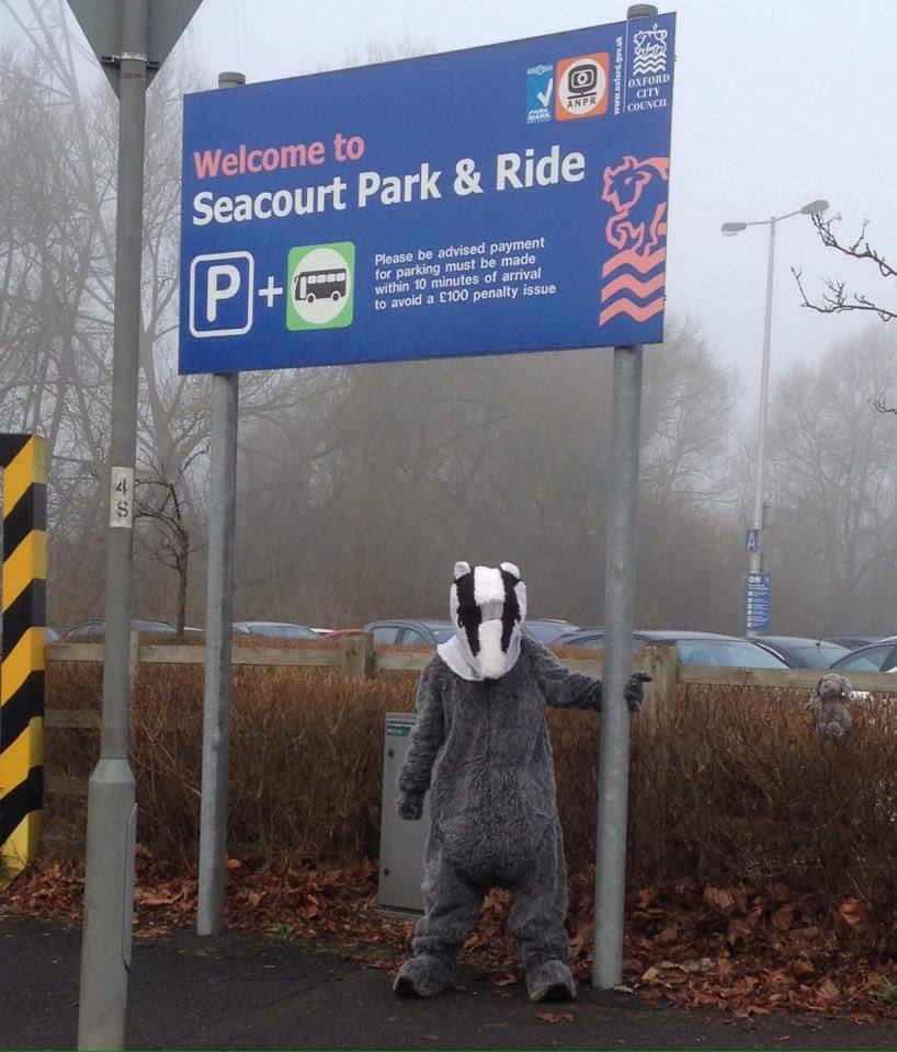 Oxfordshire Badger Group is protesting the planned extension of the Seacourt Park and Ride car park because they fear it will harm the local badger population..