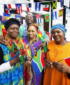 Oxford Mail: Refresh Cafe on Cowley Road, Oxford, bursts with colour as residents celebrate 60th anniversary of Ghana's independence