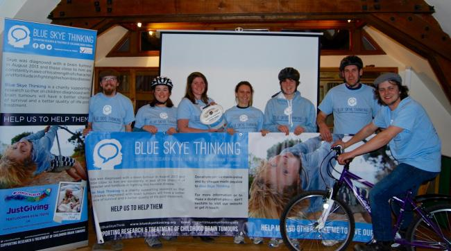 Members of Abingdon Young Farmers ready to raise money for Blue Skye Thinking