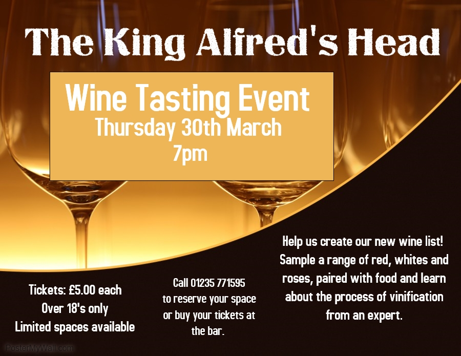 Wine Tasting at the King Alfred's Head
