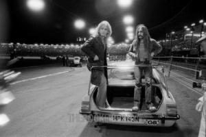 In the fast lane: John Coghlan and Rick Parfitt