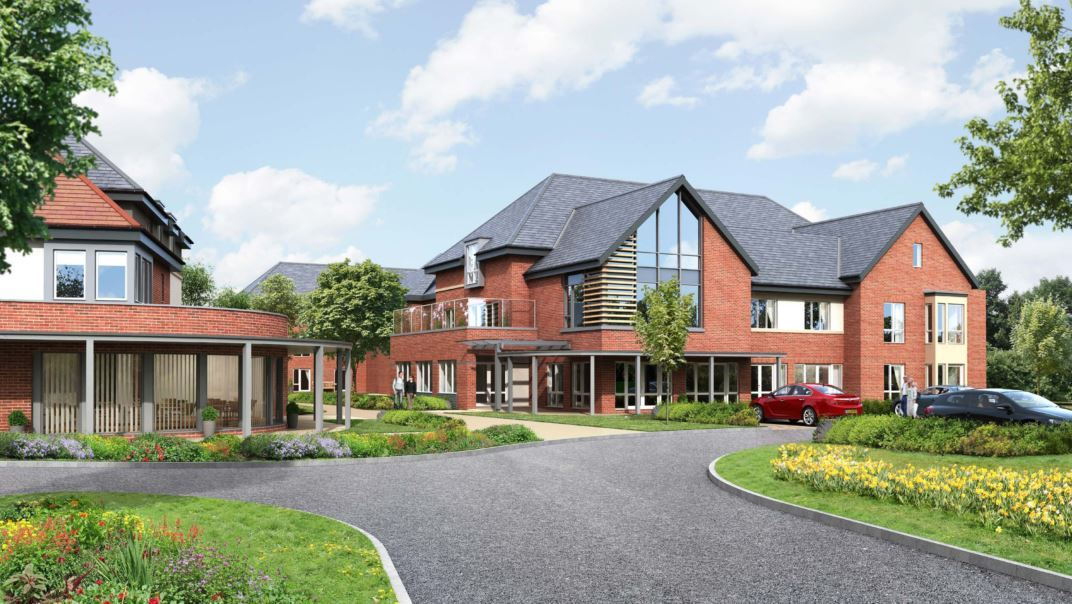 Artist's impression of the care home Frontier Estates and Baycroft want to build on Grove Road, Wantage..