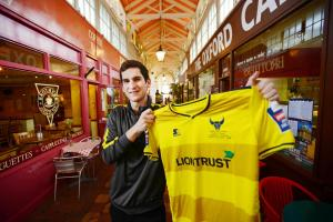 Oxford United shop manager Lee Barton in the Covered Market