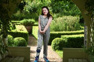 Young stroke survivor Maddie Greenwood, 12, at home in Oxford
