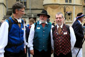 German visitors in Broad Street 70th anniversary celebrations of Oxford's twinning with Bonn Picture: Ric Mellis