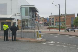 Town centre on lockdown after suspicious package found