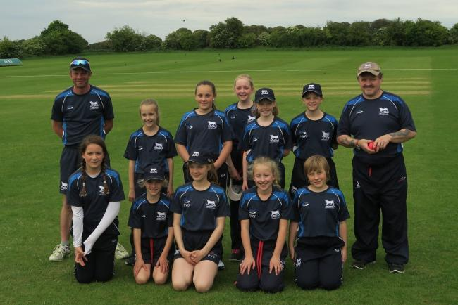 ALL SMILES: Oxfordshire's under 11 girls before their friendly match with Berkshire  Picture: Martyn Johnson