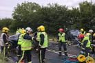 Person airlifted to hospital following devastating crash