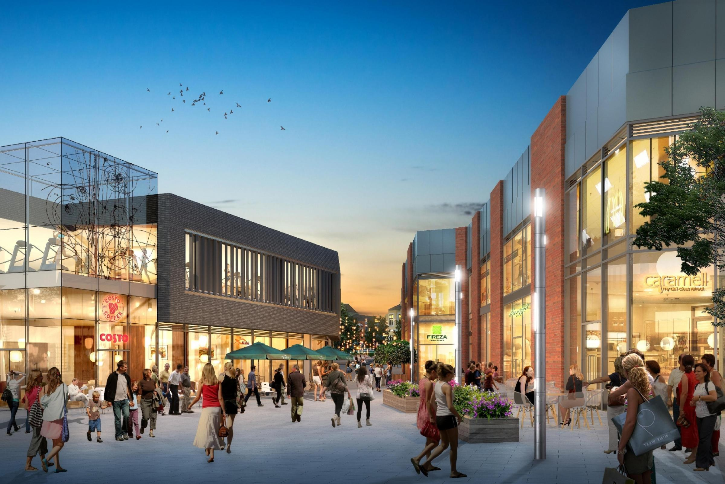 Didcot Orchard Centre artists impression.