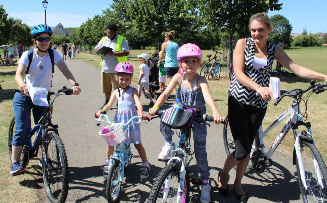 Families get in the saddle at Bicester Bike Day 2017