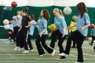 File picture: King Alfred's students having a PE lesson inside the sports dome on West Site