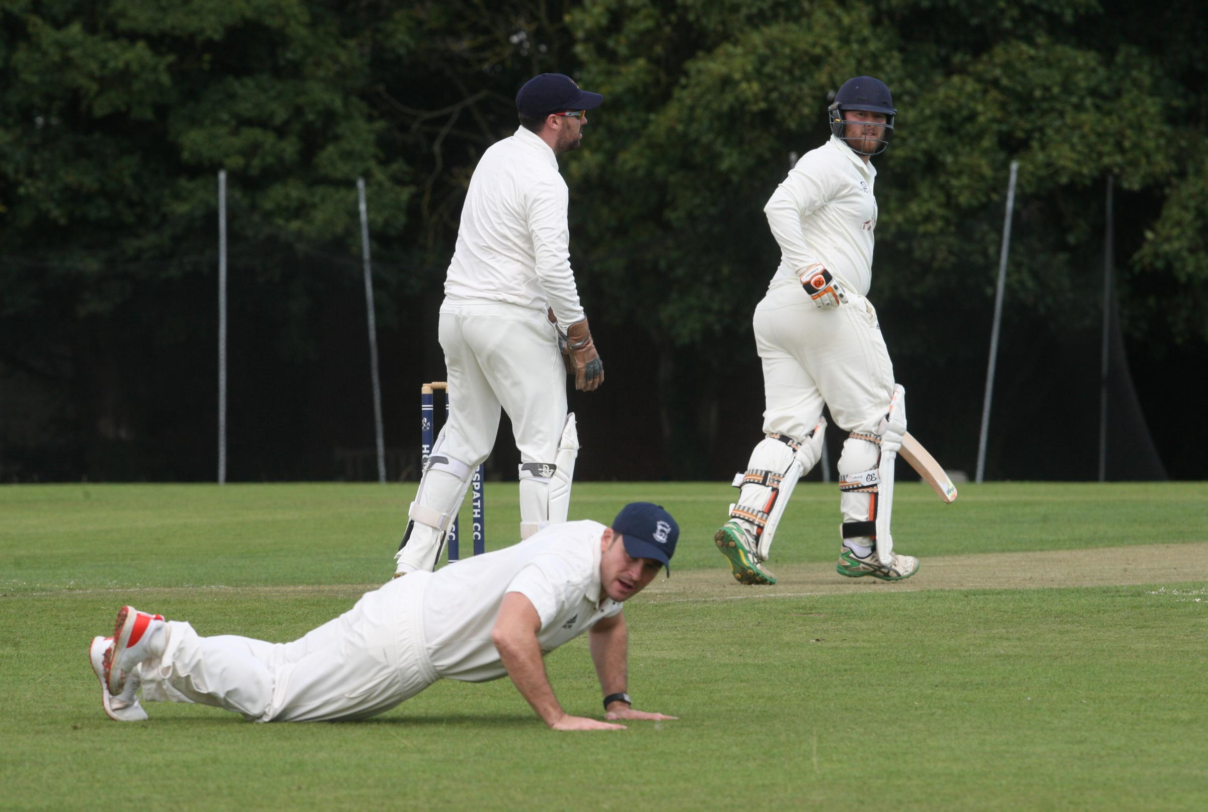 OPENING SHOT: Horspath opener Tom Coleman beats the fielder to add two to his tally before rain caused a delay in their eight-wicket defeat by Oxford                                                                                   Pictures: Steve Wheeler