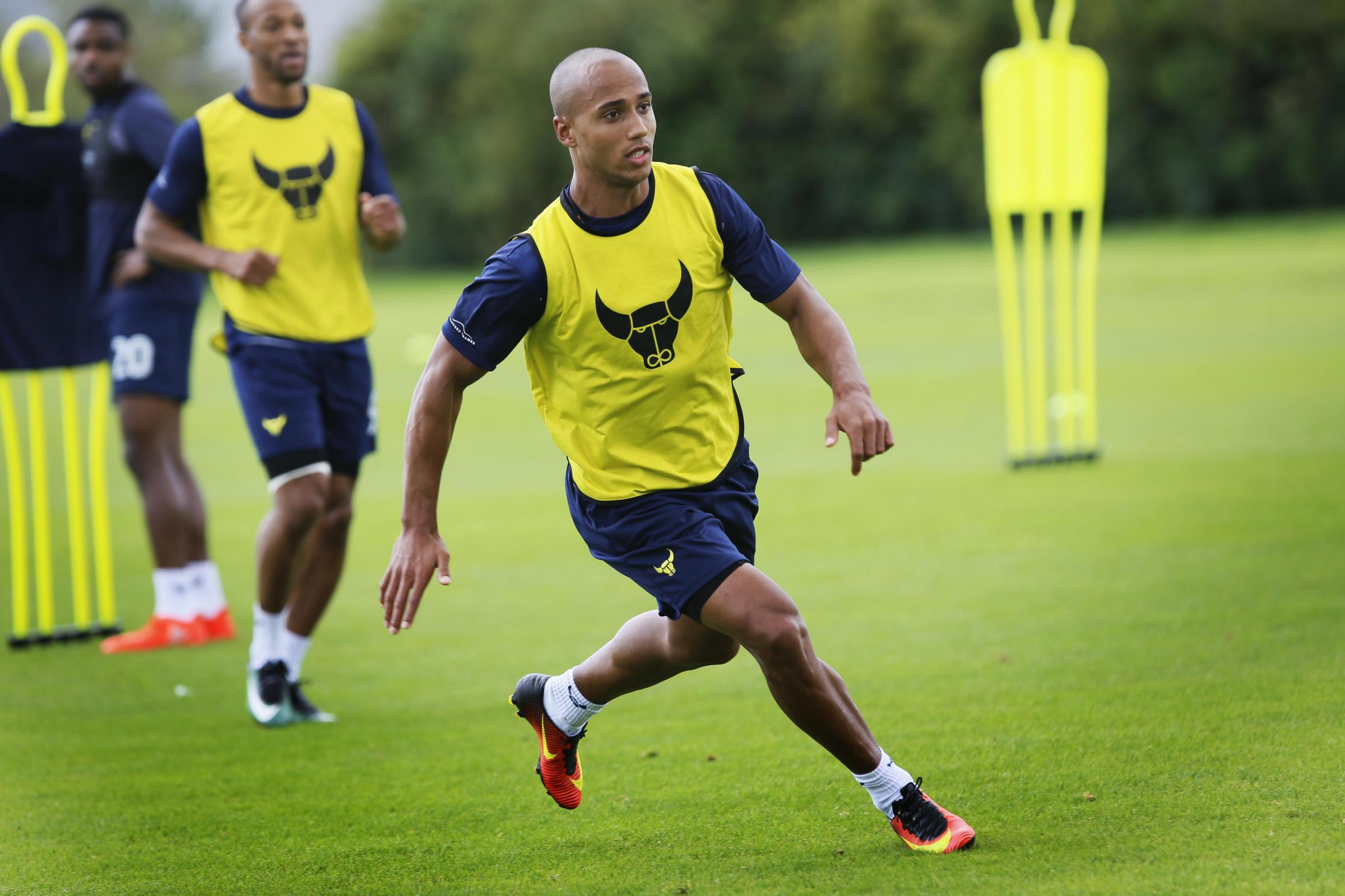 ON BOARD: Gino van Kessel in training with Oxford United for the first time yesterday 	 Picture: Ed Nix