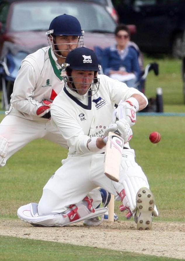 IN THE RUNS: Richard Kaufman, 84, top-scored for Oxfordshire yesterday