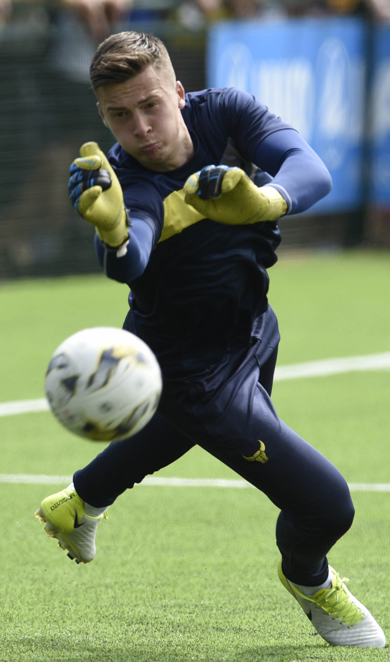 ON THE MOVE: Jack Stevens, seen warming up for Oxford United before their pre-season friendly with Oxford City, has signed on loan for Mark Jones's sidePicture: David Fleming