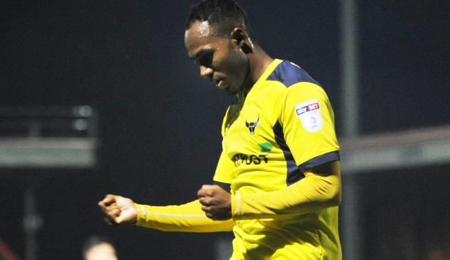 Rob Hall celebrates his opening goal