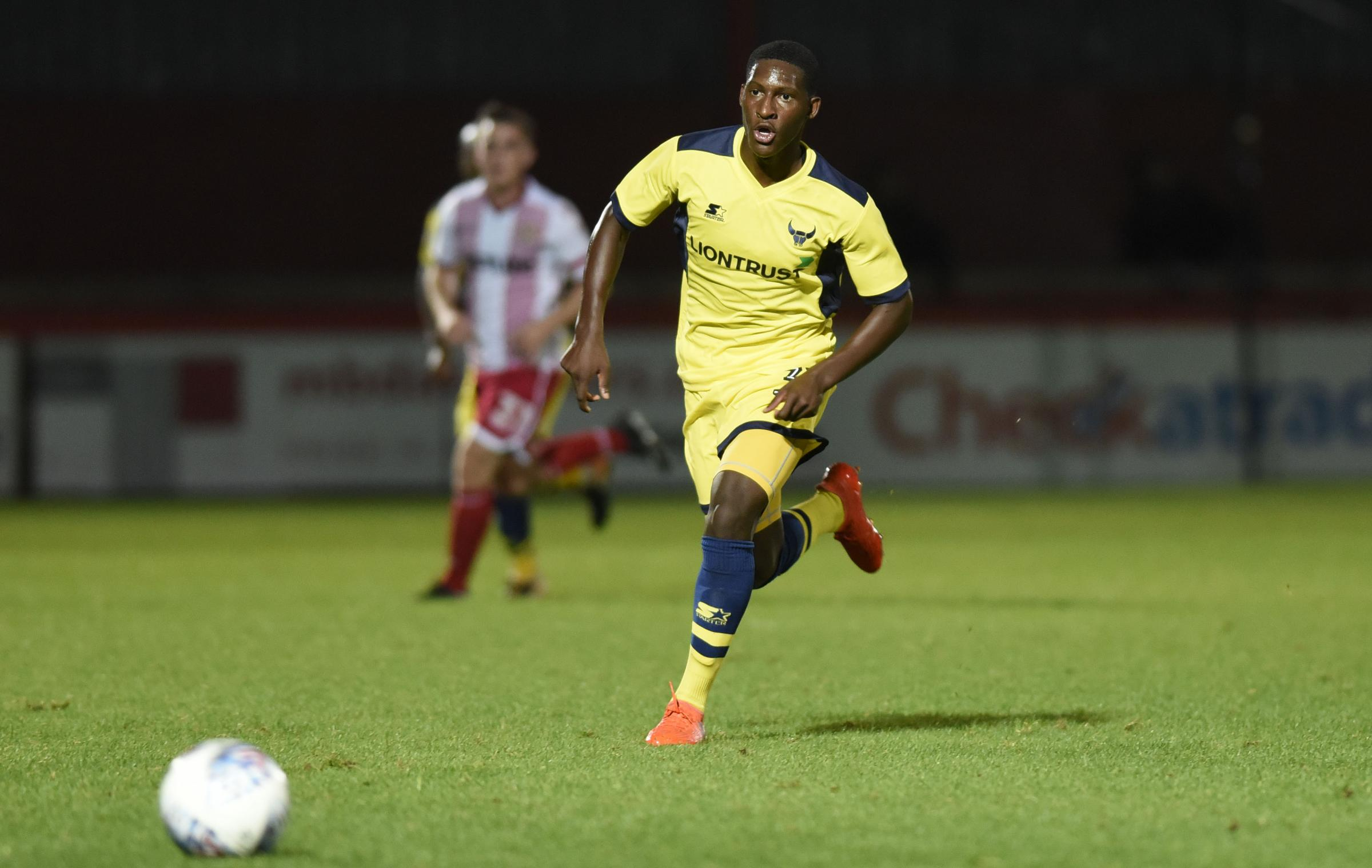 WHAT A NIGHT: Shandon Baptiste in full flow during his Oxford United debut on Tuesday night 			 Picture: David Fleming