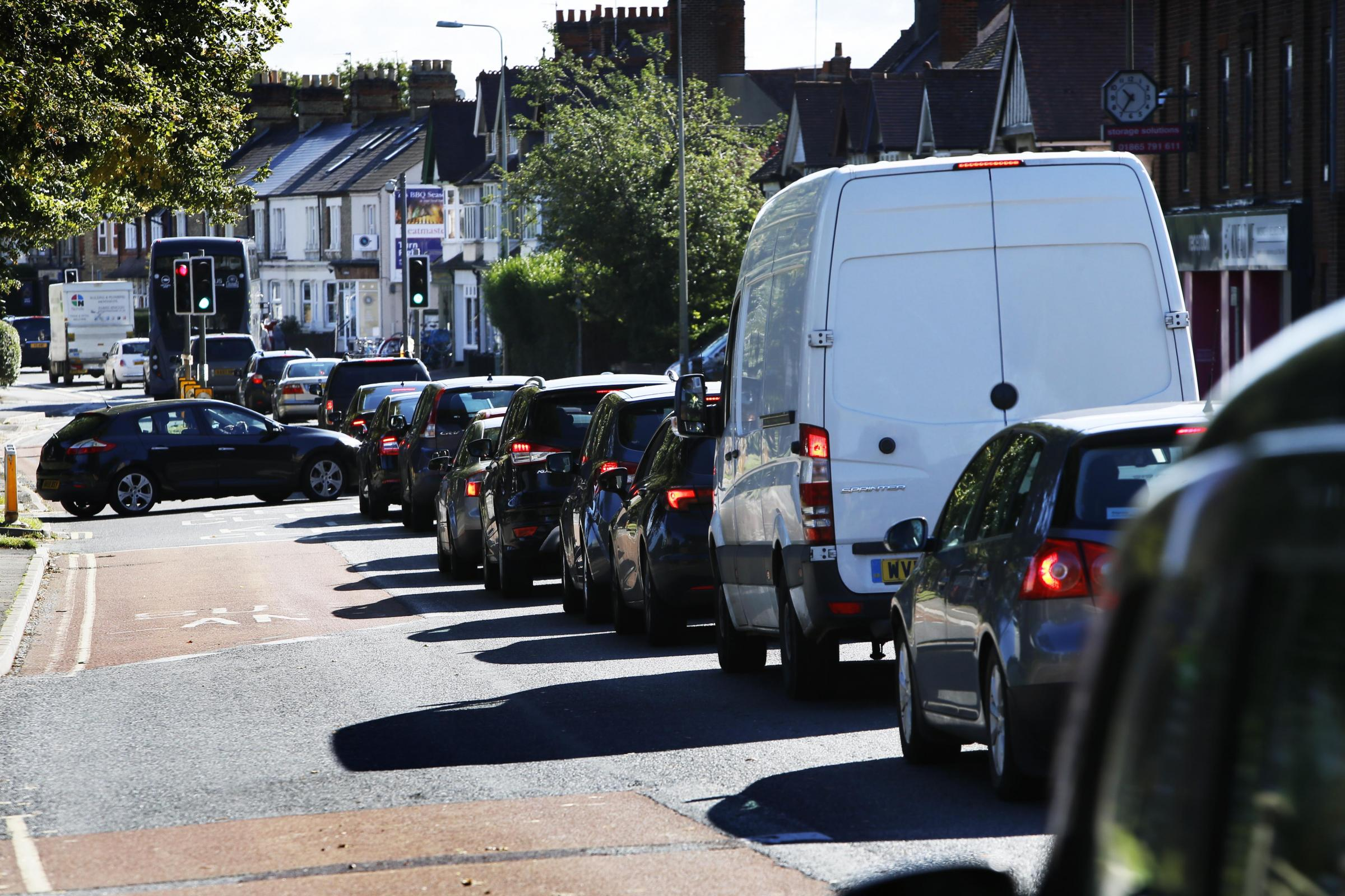 Traffic on Botley Road earlier today. Pic: Ed Nix