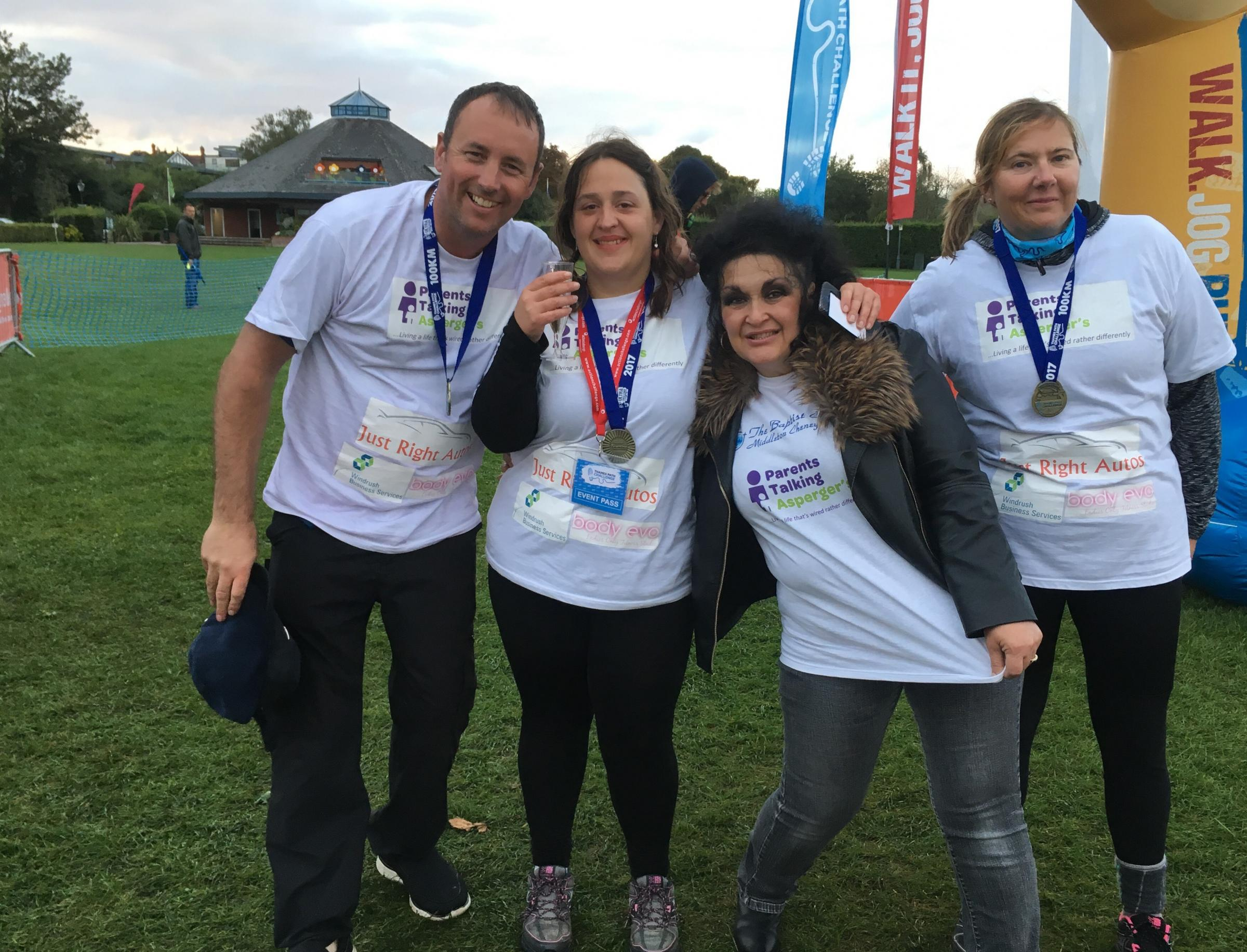Oxfordmail Parents from Witney walk 100km to help