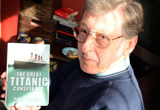 Robin Gardiner, 64, with his third book in 2012 on the 100th anniversary of the Titanic's maiden voyage