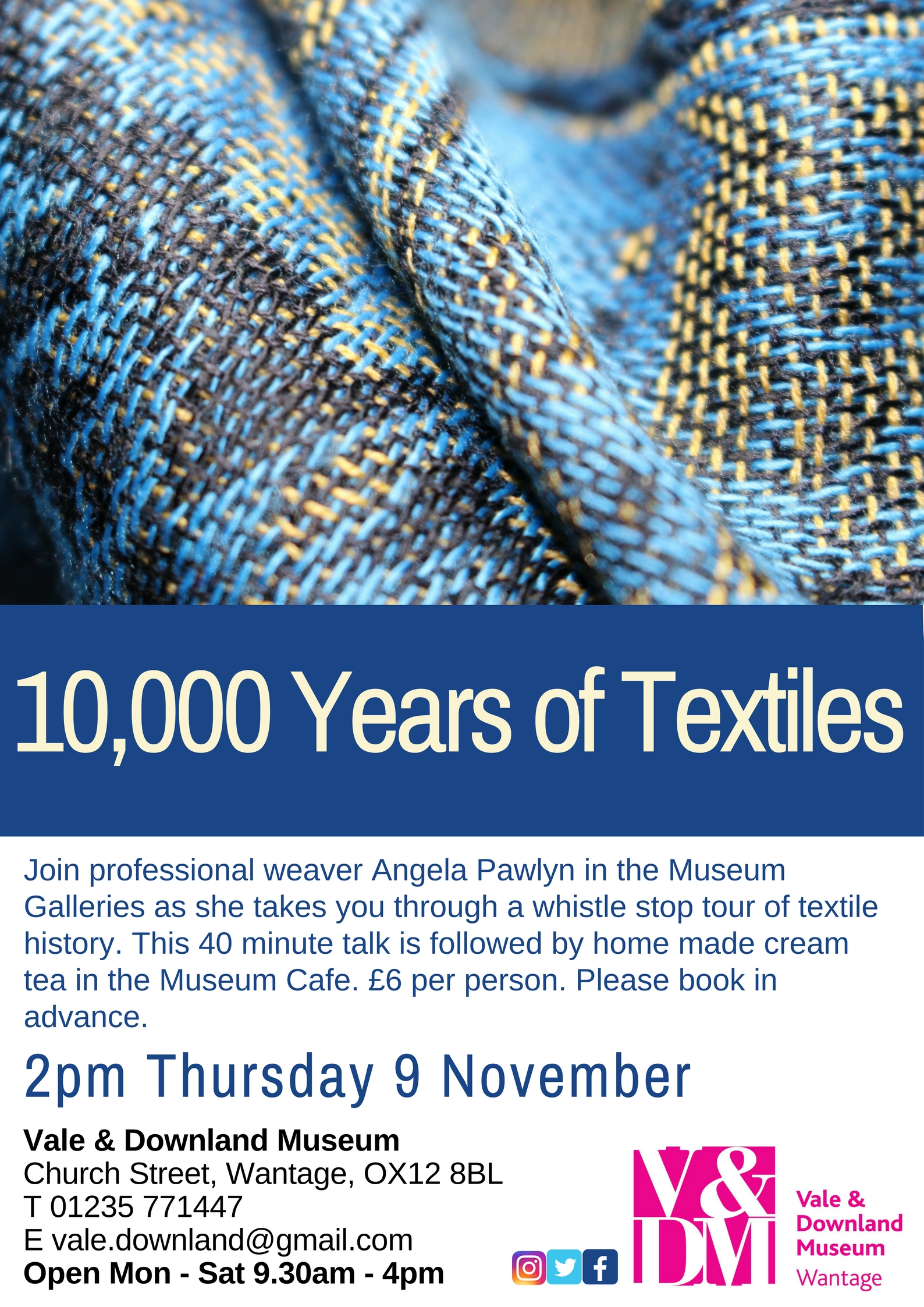 Talks & Teas - 10,000 Years of Textiles