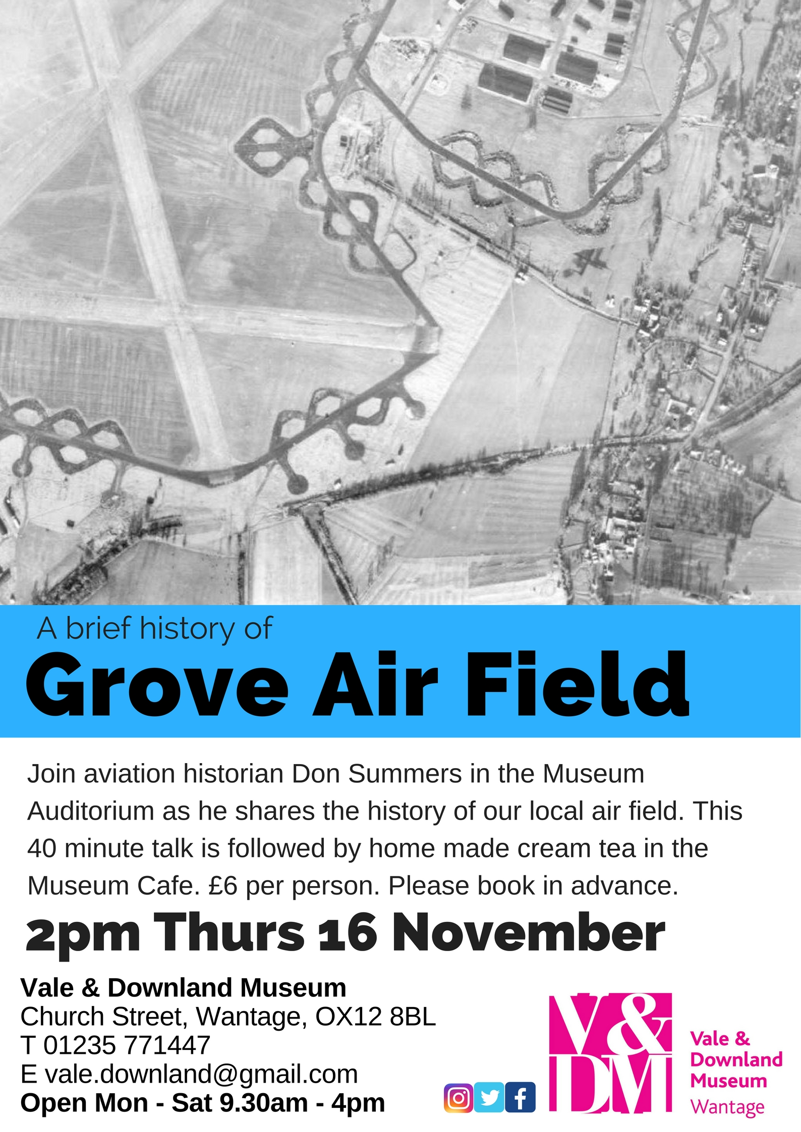 Talks & Teas - History of Grove Airfield