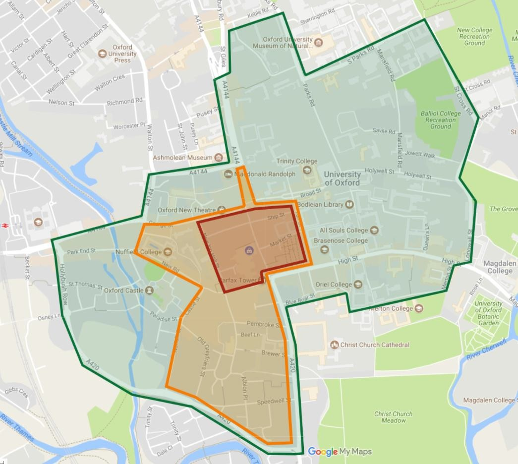 Petrol and diesel cars could be banned in Oxford city centre from