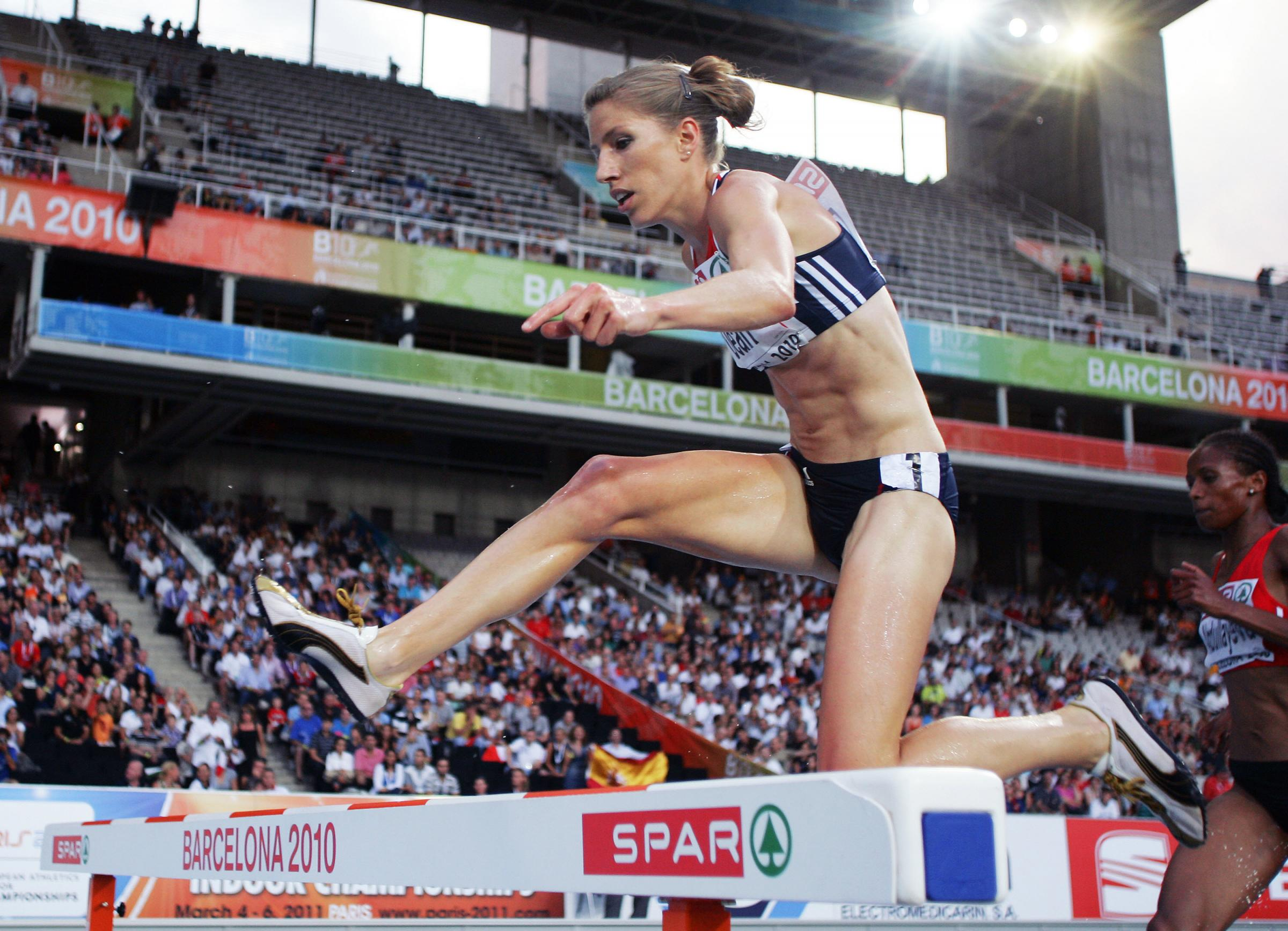 FLASHBACK: Hatti Archer in action at the 2010 European Championships in Barcelona where she finished fourth, but has since been promoted to silver after two rivals were disqualified after being found guilty of doping