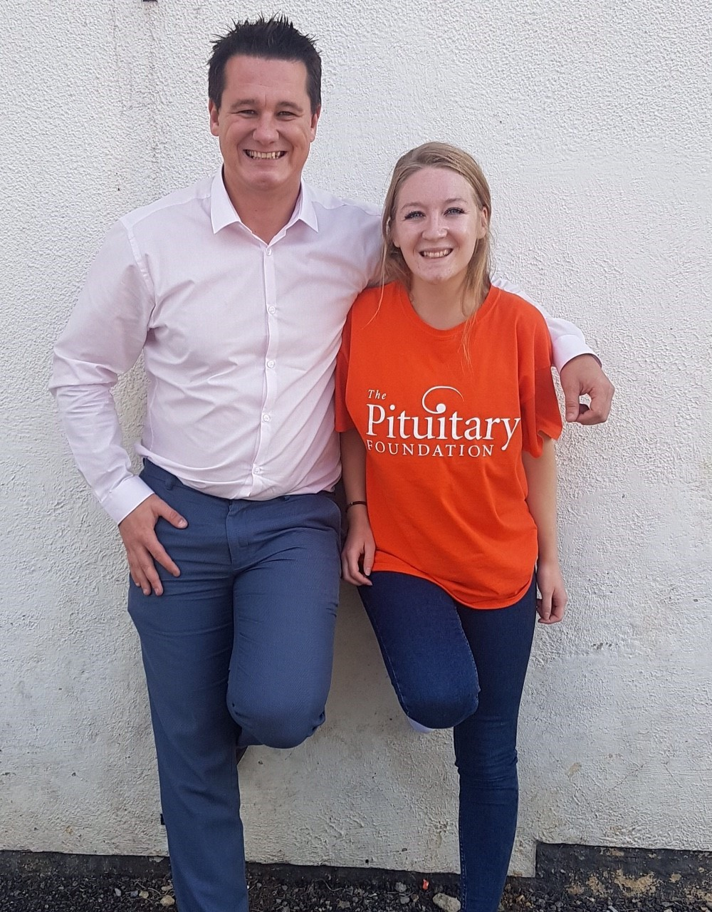Jessica Buck with Jay Sheppard, senior fundraising manger at the Pituitary Foundation. Pic PA/Jessica Buck