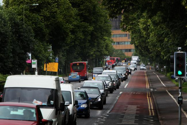 Traffic on Botley Road in Oxford