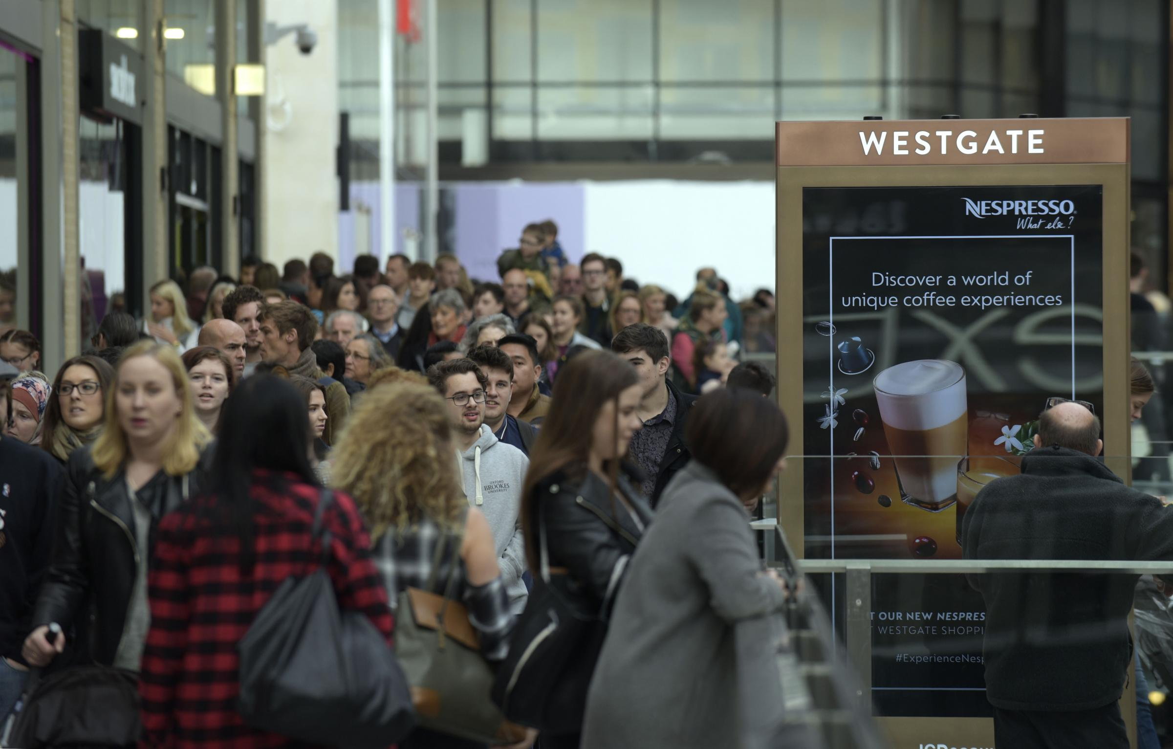 Thousands of shoppers pour into the new Westgate