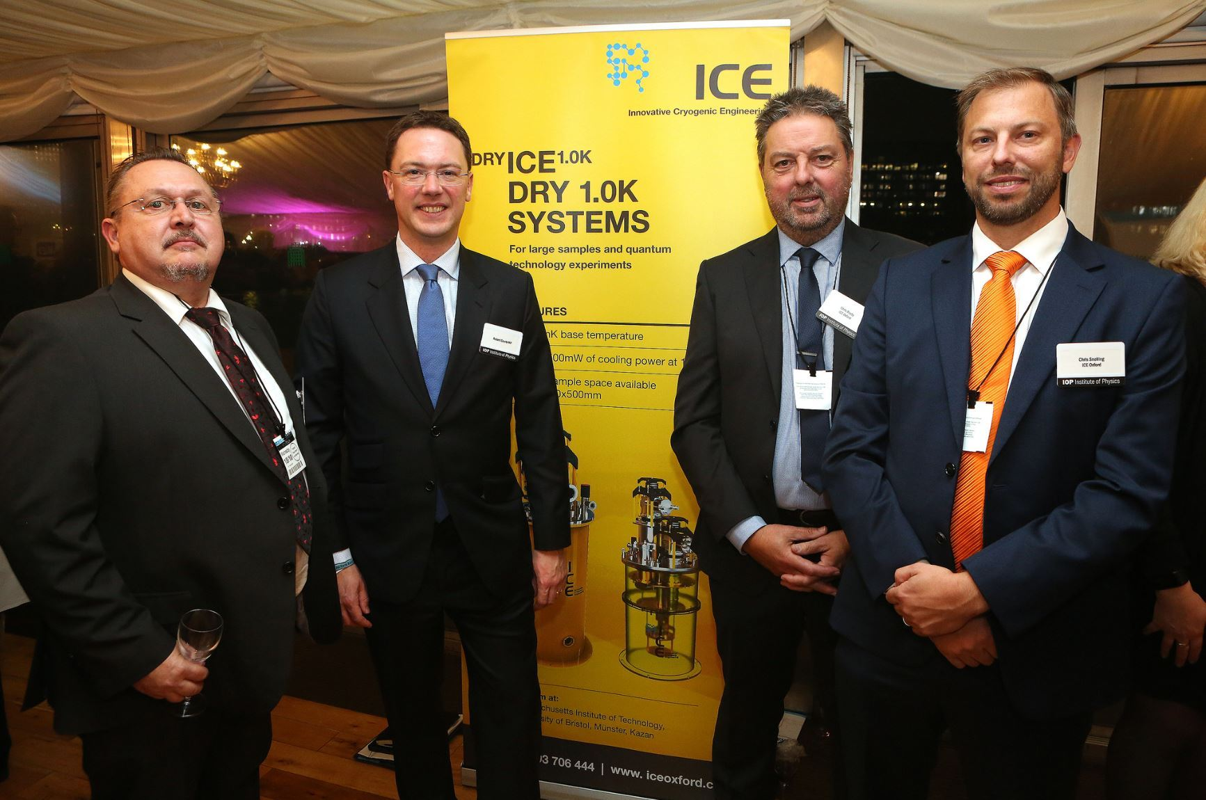 Chris Busby, managing director of iceOxford, second right, with Witney MP Robert Courts, second left, and staff at the awards. Picture iceOxfored