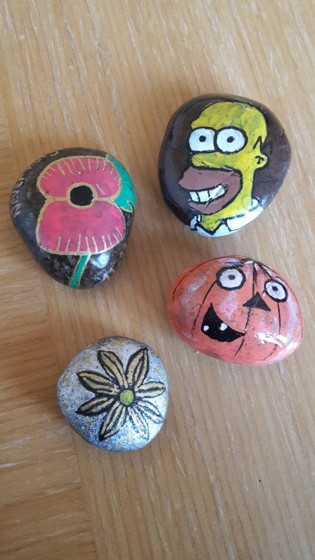 Just a few of my recent rocks painted and hidden in Bicester. The Bicester Rocks group is going really strongly, with well over 3,000 members now!