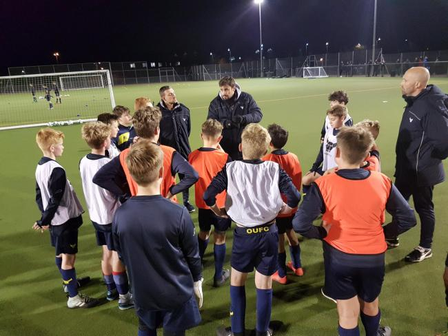 NEW EXPERIENCE: It was really good for me to take the coaching session with the club's under 13 side on Thursday