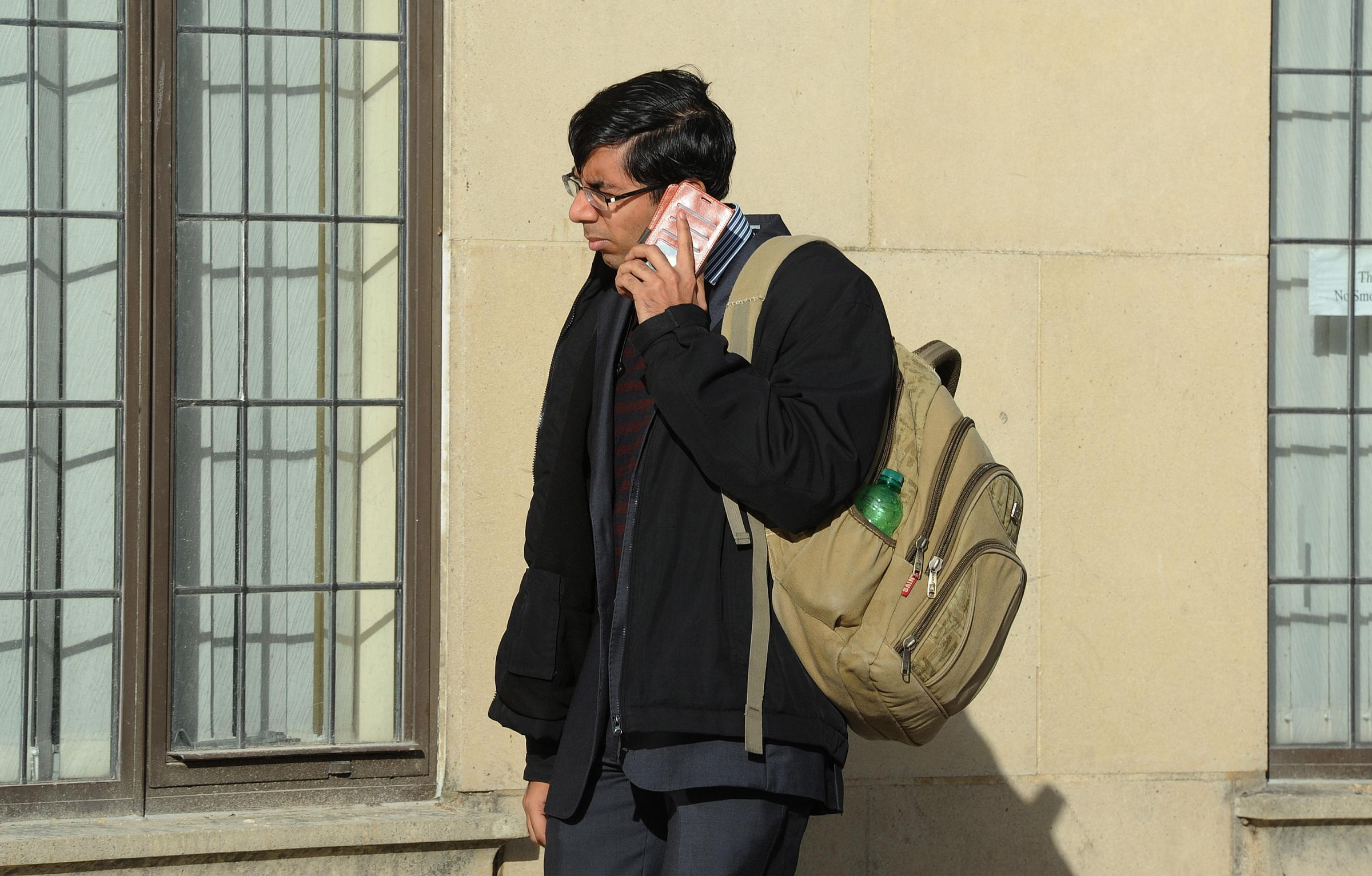 Dr. Anandagopal Srinivasan, 26, arriving at Oxford Crown Court where he faced charges of sexual assault.