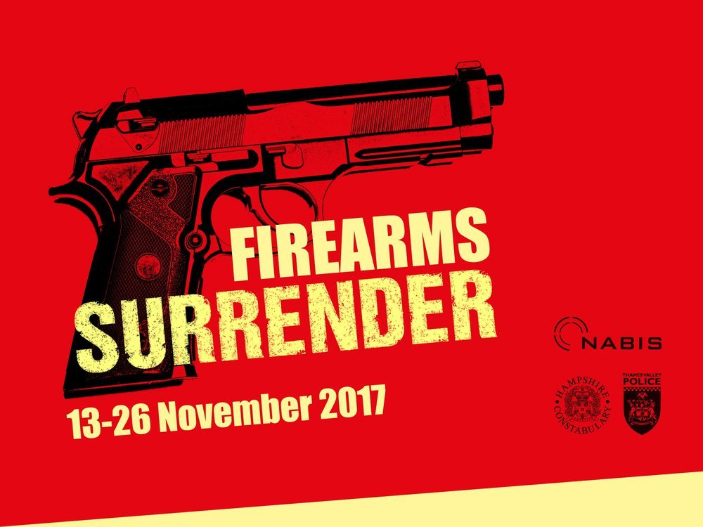 The firearms surrender will run until November 26
