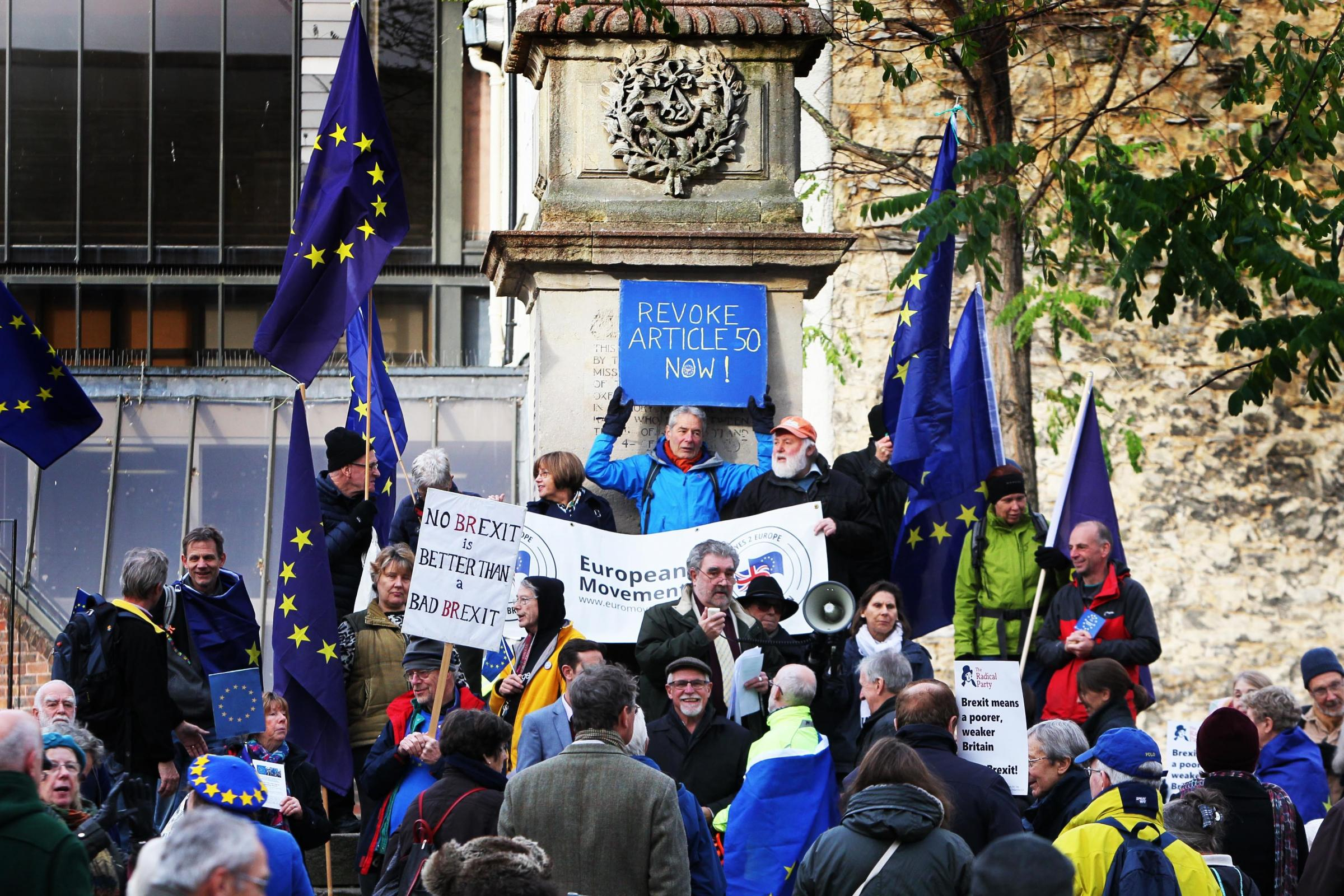 The Brexit rally in Bonn Square.