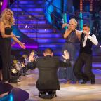 Oxford Mail: Tess Daly, Craig Revel Horwood, Debbie McGee and Giovanni Pernice during the live show of the BBC1 dance contest, Strictly Come Dancing.