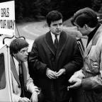Oxford Mail: James Bolam as Terry, left, and Rodney Bewes as Bob, centre, in The Likely Lads (BBC)