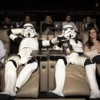 Oxford Mail: EDITORIAL USE ONLY Stormtroopers enjoy the new cinema facilities at ODEON Luxe Putney in London ahead of the nationwide film release of Star Wars: The Last Jedi, on December 15th.