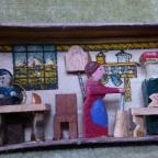 Oxford Mail: Wooden matchbox with domestic interior (private collection)