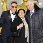 Oxford Mail: Jean Claude Van Damme with his parents on the JCVJ red carpet (Eric Tran-Quang)