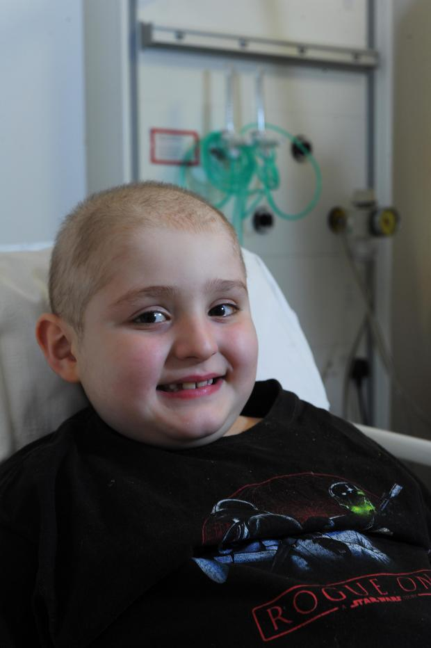Oxford Mail: Oxford Children's Hospital patient eight-year-old Noah Castro..Pic by Jon Lewis