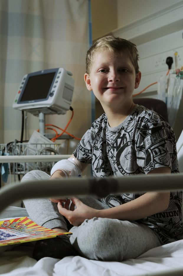 Oxford Mail: Oxford Children's Hospital patient twelve-year-old Reece Winstone..Pic by Jon Lewis