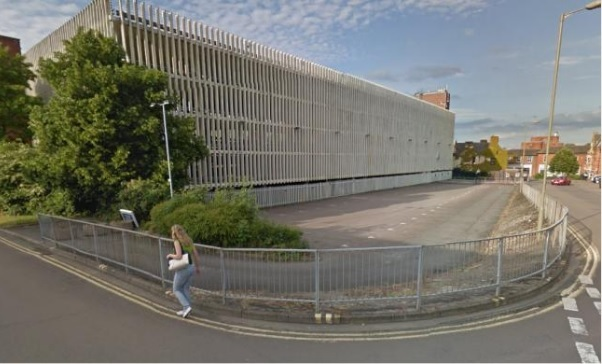 Castleside car park in Banbury. Image courtesy of Google Street View..