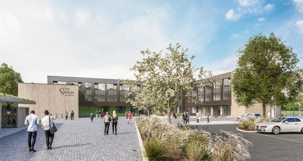 Oxford Mail: Initial designs detailing what the new Swan School could look like. Pic: Infinite 3D Ltd/ Galliford Try