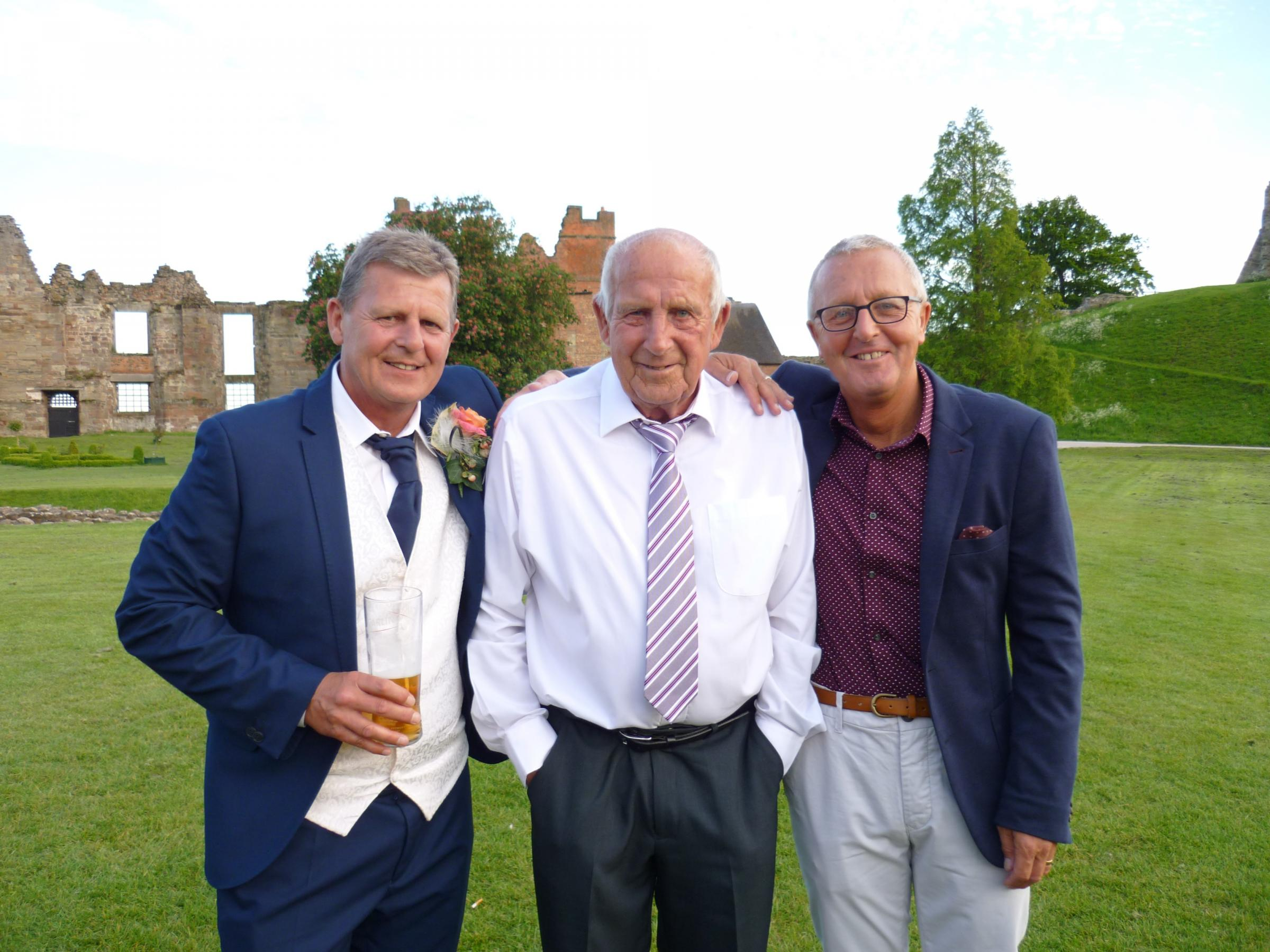 Cyril Beavon with his two sons Stuart (left) and Stephen (right)