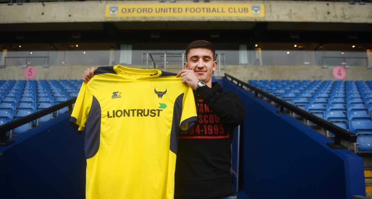 Cameron Brannagan at Oxford United this afternoon  Picture: Richard Cave