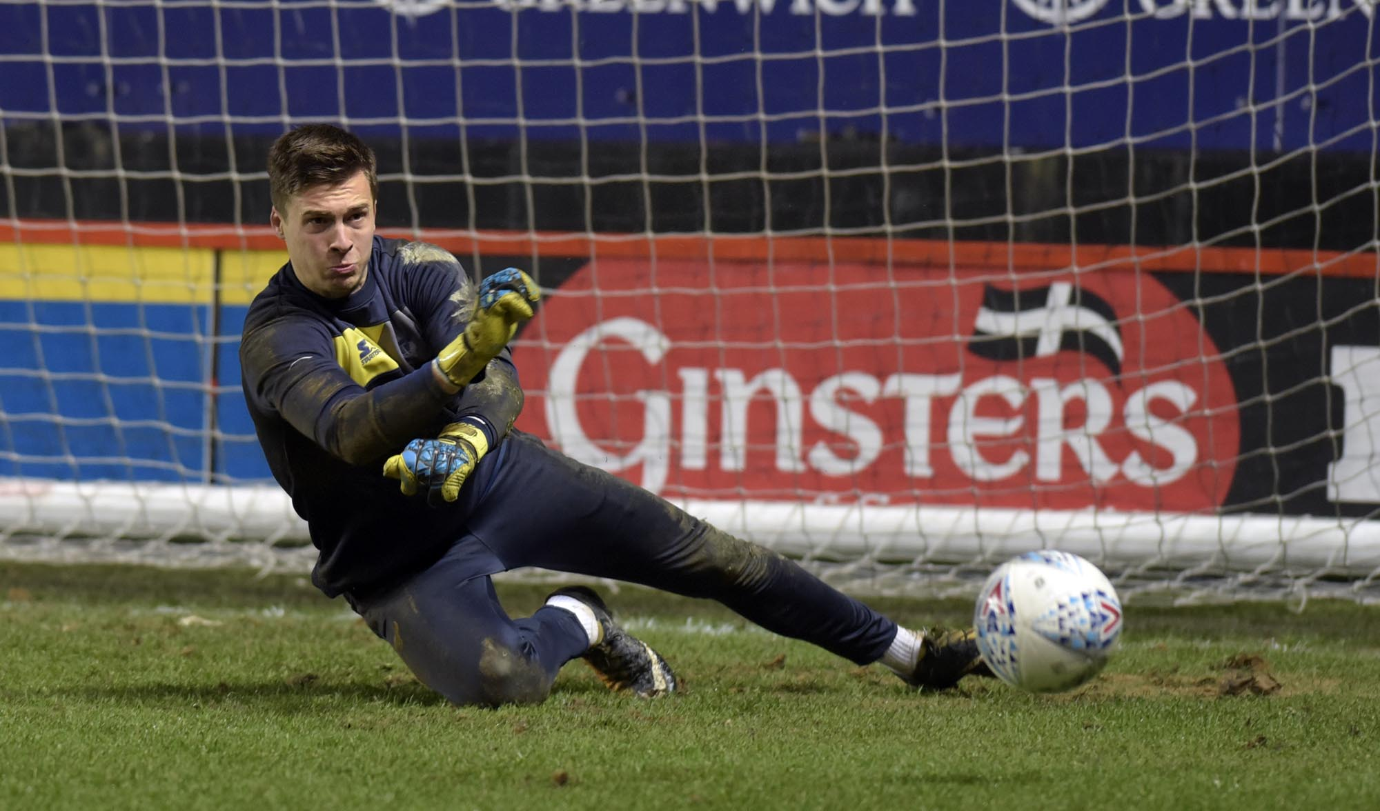 Jack Stevens, pictured warming up ahead of Oxford United's Checkatrade Trophy clash at Charlton Athletic earlier this month has joined Tamworth on loan Picture: David Fleming