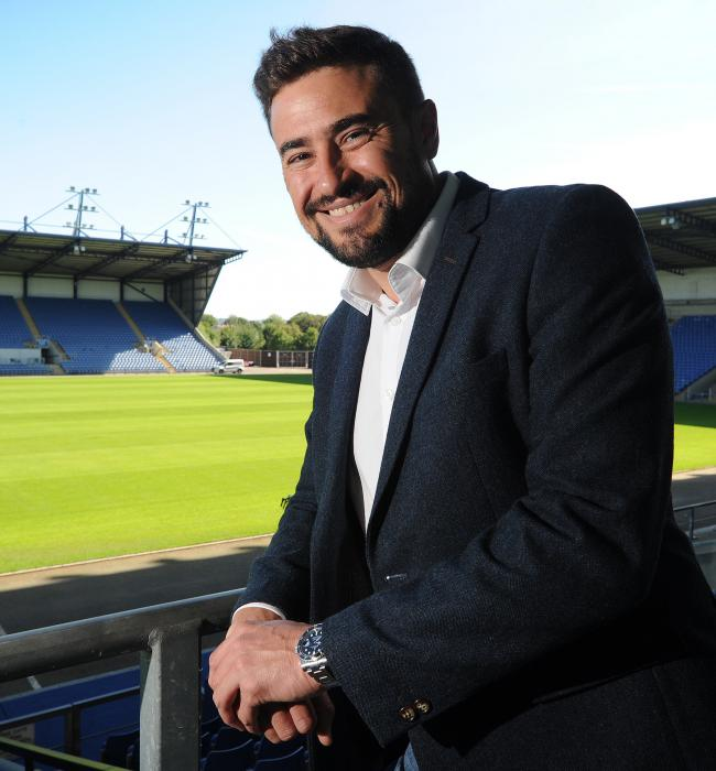 UPBEAT START: Pep Clotet at the Kassam Stadium in July when he was unveiled as Oxford United manager                Picture: Jon Lewis